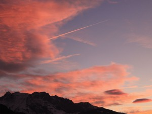 Sonnenuntergang in Tamins