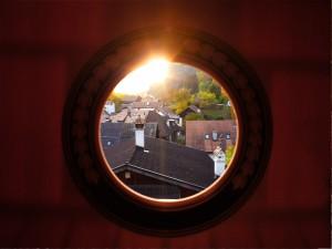 Sonnenaufgang durch Schallloch