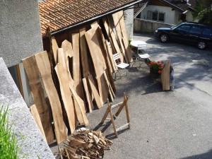 Holz am trocknen