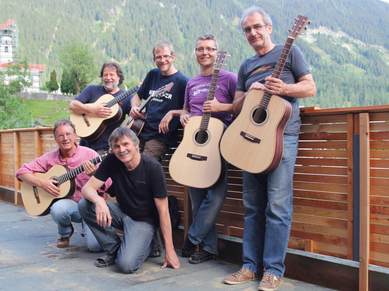 kursteilnehmer Gitarren Group kurs Gruppen foto grösse 1